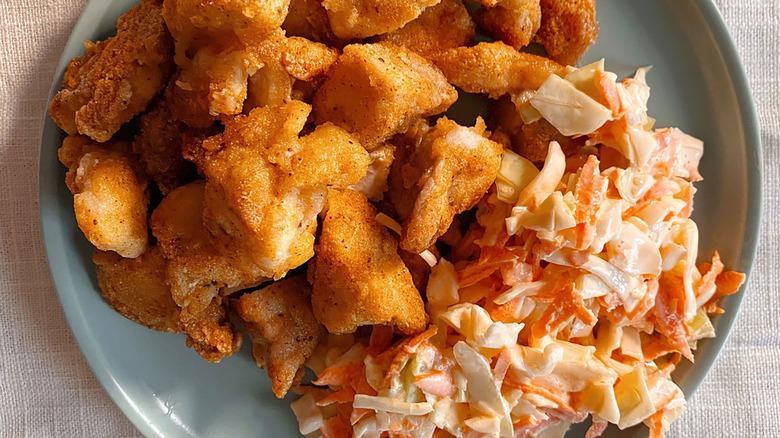 Chick-Fil-A coleslaw and nuggets copycat