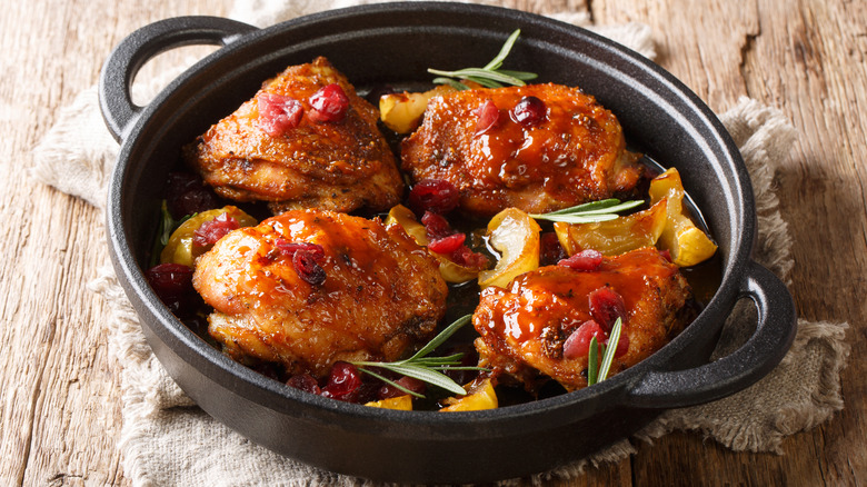 Crispy oven baked chicken thighs
