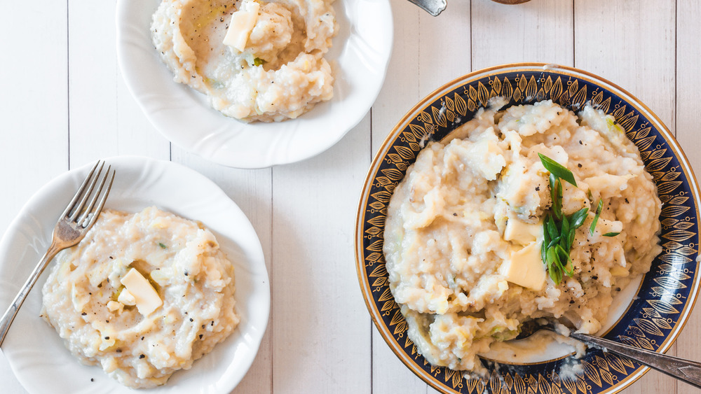 two servings of colcannon and a bowl