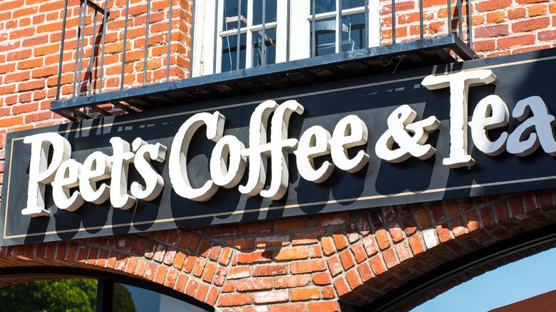 Peet's Coffee sign on brick building