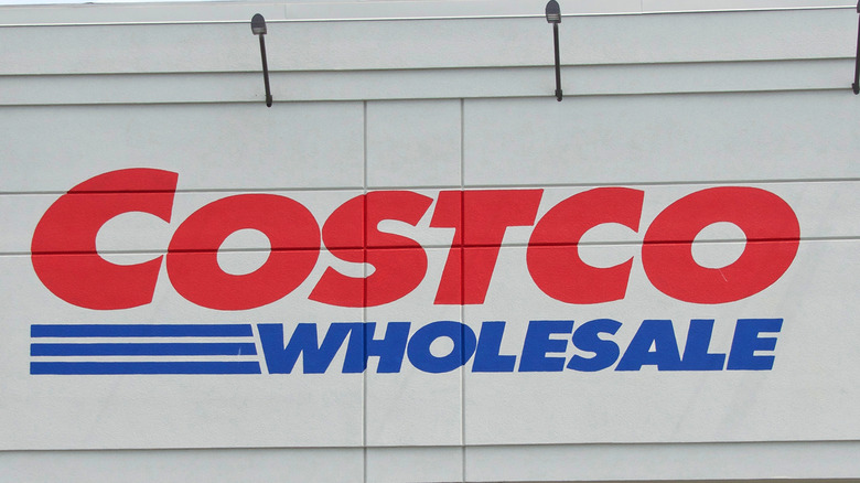 Costco Wholesale sign on exterior storefront