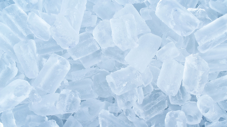 pile of ice cubes