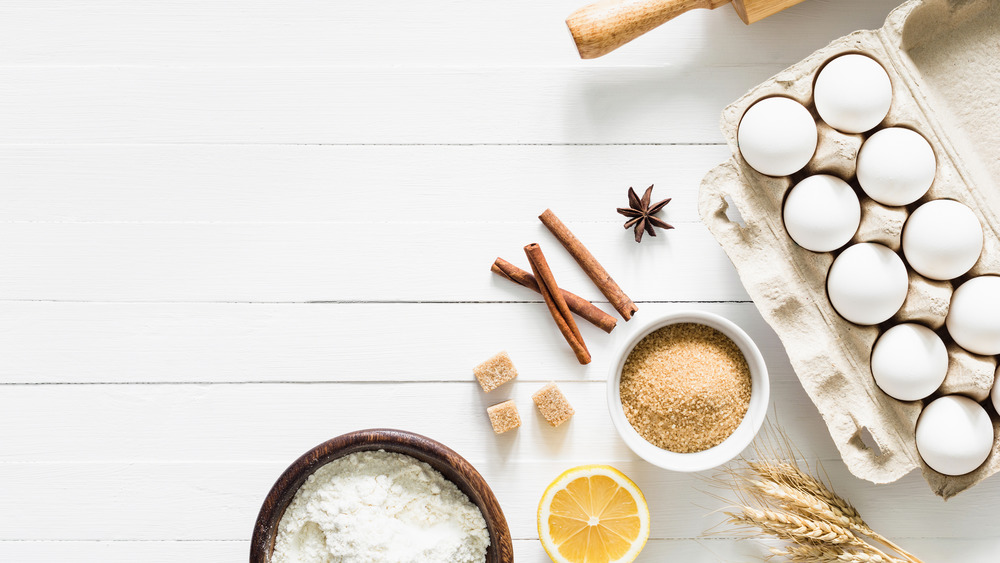 Eggs and other baking ingredients