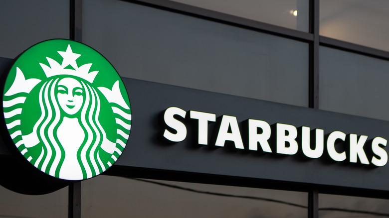 Starbucks shop logo sign