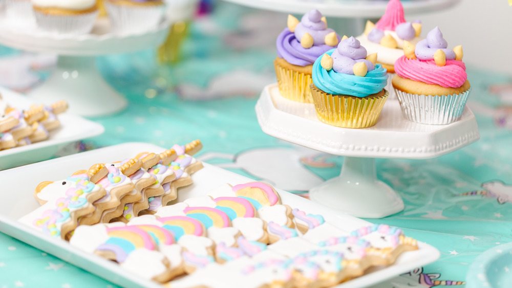 Royal icing cookies and buttercream cupcakes