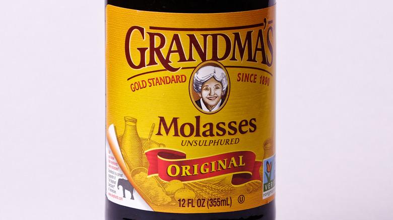 Jar of Grandma's unsulphured molasses