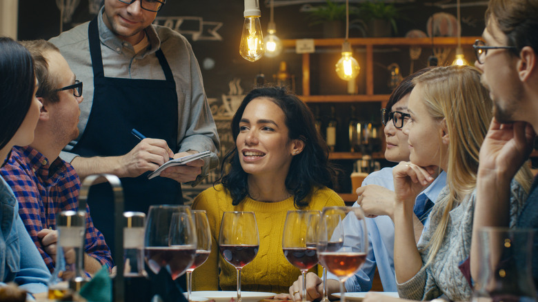 Group of people at a restaurant