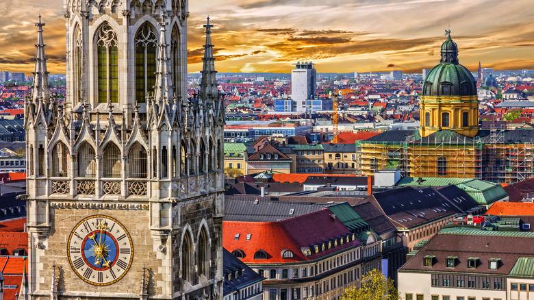 Munich, Germany at sunset