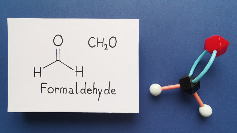 Formaldehyde chemical structure drawing
