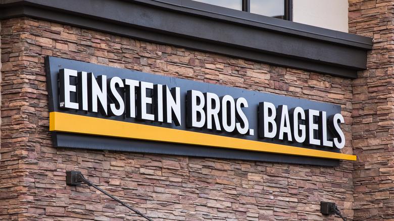 Einstein Bros. sign