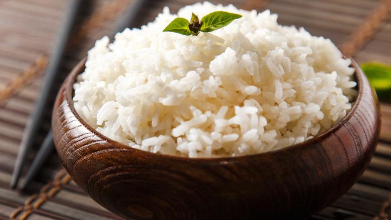 Bowl of sticky white rice