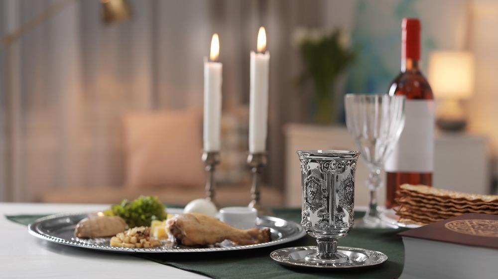 Set Seder table