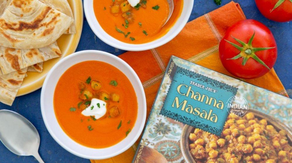 tomato soup and channa masala