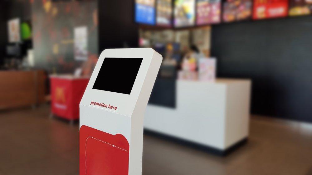 self-order kiosk in a business