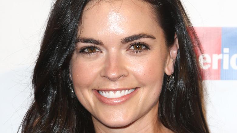 Katie Lee smiles in close-up
