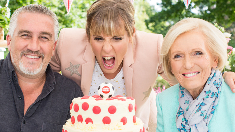 Paul Hollywood, Mel Giedroyc, and May Berry
