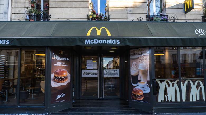 Exterior of a Paris McDonald's