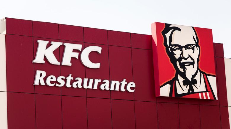 KFC sign in Spain