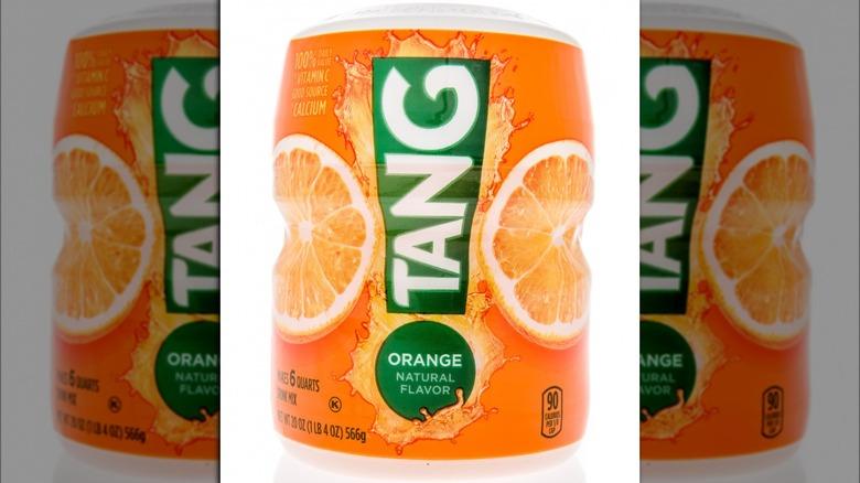 Jar of Tang orange drink mix