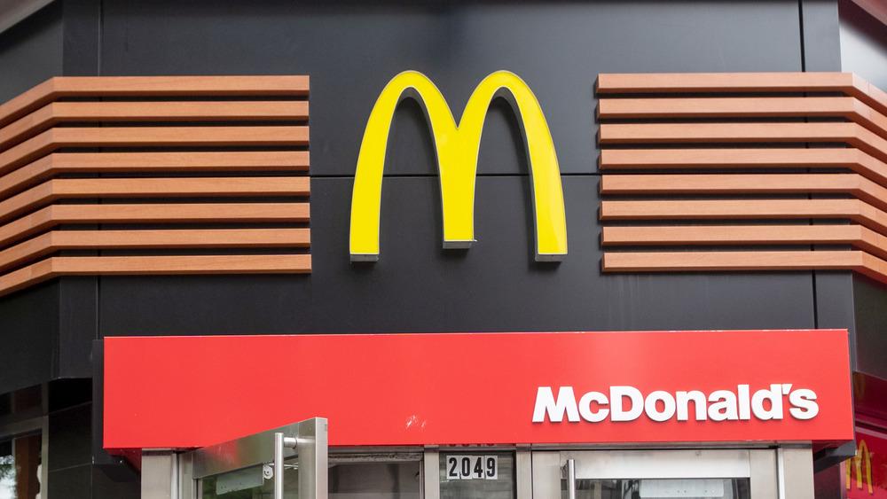McDonald's storefront sign
