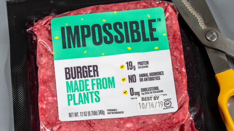 Impossible Foods meat-free burger patty