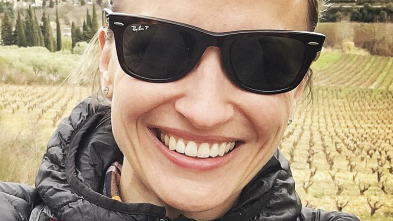 Erin French wearing sunglasses