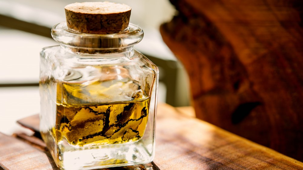 A jar of real truffle oil
