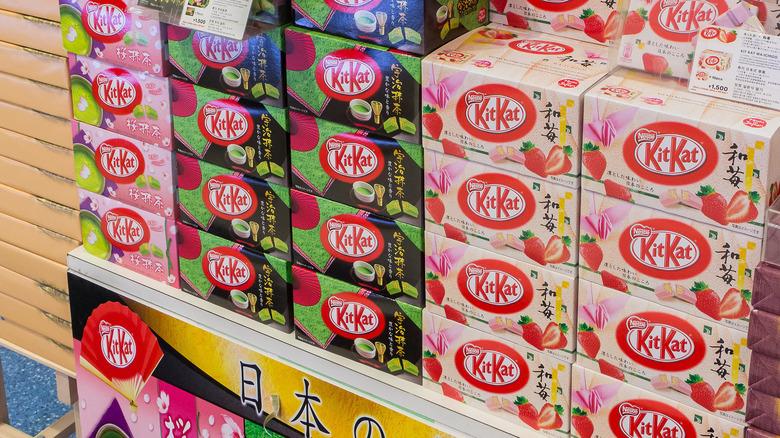 Stacks of Japanese Kit Kats