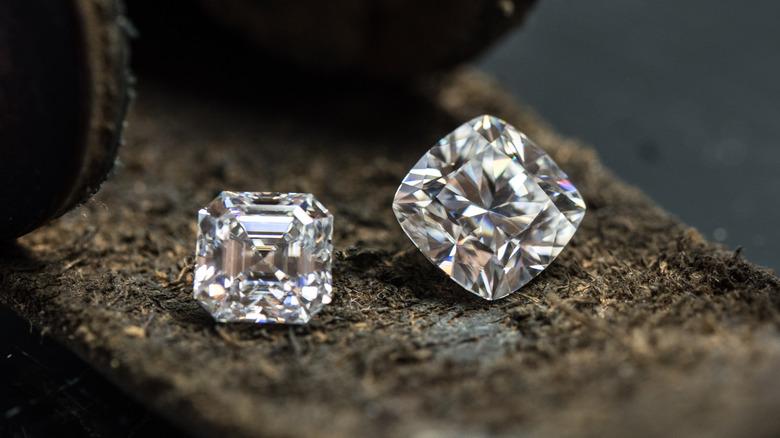 Two whole diamonds