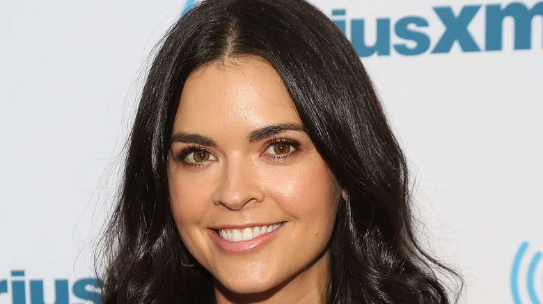 Katie Lee with wavy hair