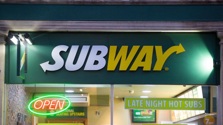 Subway open at night