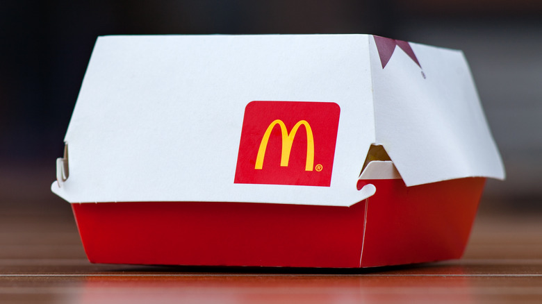 mcdonald's red and whiter box