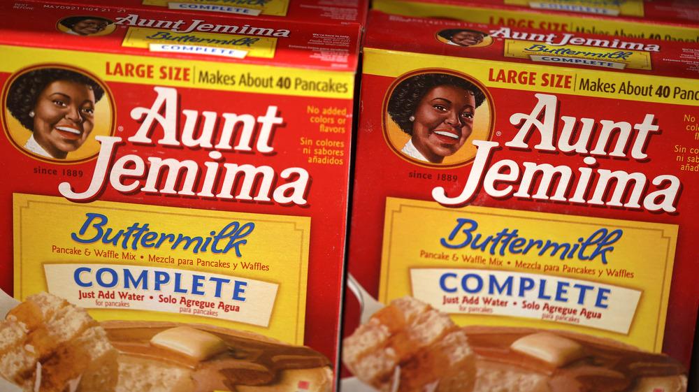 Original packaging: Aunt Jemima complete pancake mix