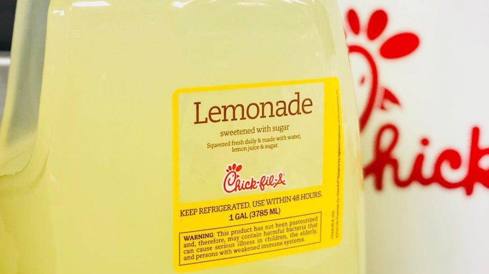 Chick Fil A gallon lemonade