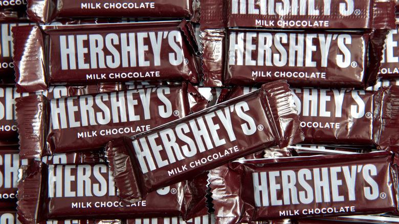 Hershey's chocolate candy bars
