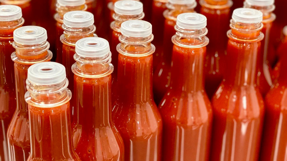 Swamp Dragon hot sauce being produced