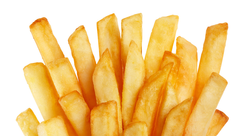 French fries sticking up