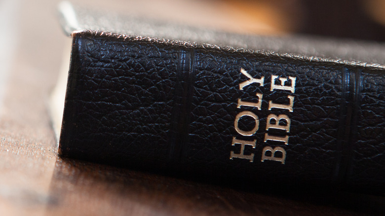 Holy Bible with black cover