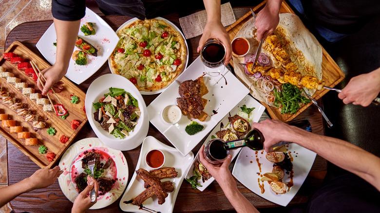 Different cuisines