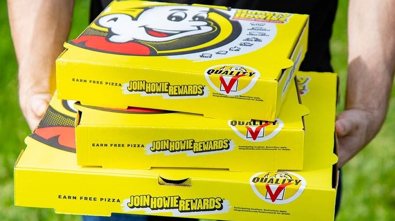 Hungry Howie's pizza boxes