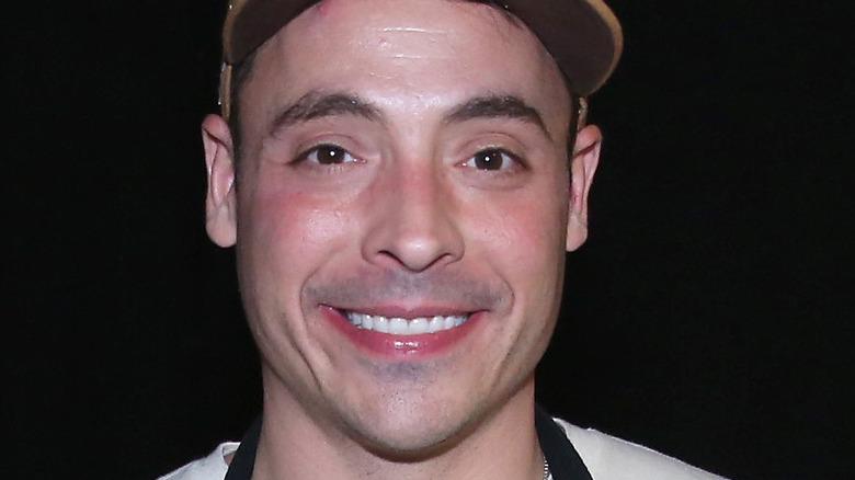 Jeff Mauro in an apron