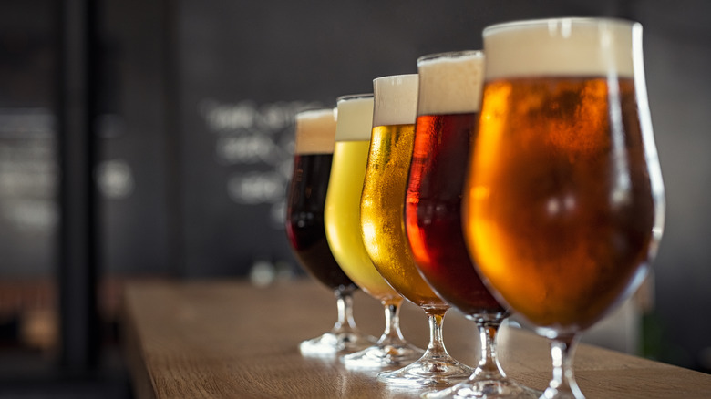 A collection of craft beers