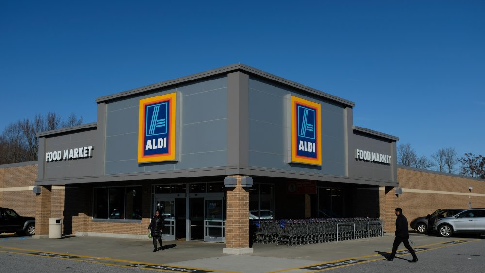 front of Aldi store