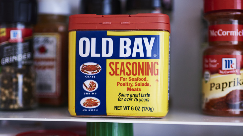 A can of Old Bay seasoning