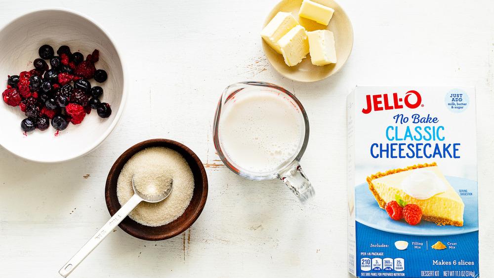 no-bake Jello cheesecake ingredients