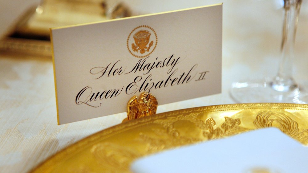 Place setting for Queen Elizabeth