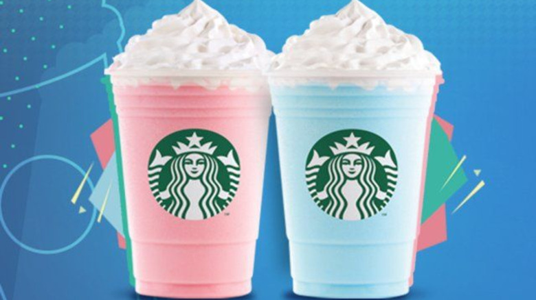cotton candy and bubblegum Frappuccinos