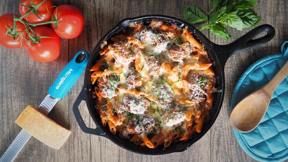 one-pot chicken Parm pasta recipe