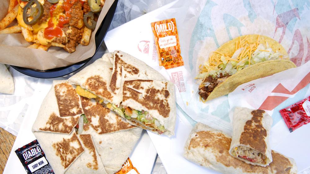 unhealthy Taco Bell menu items