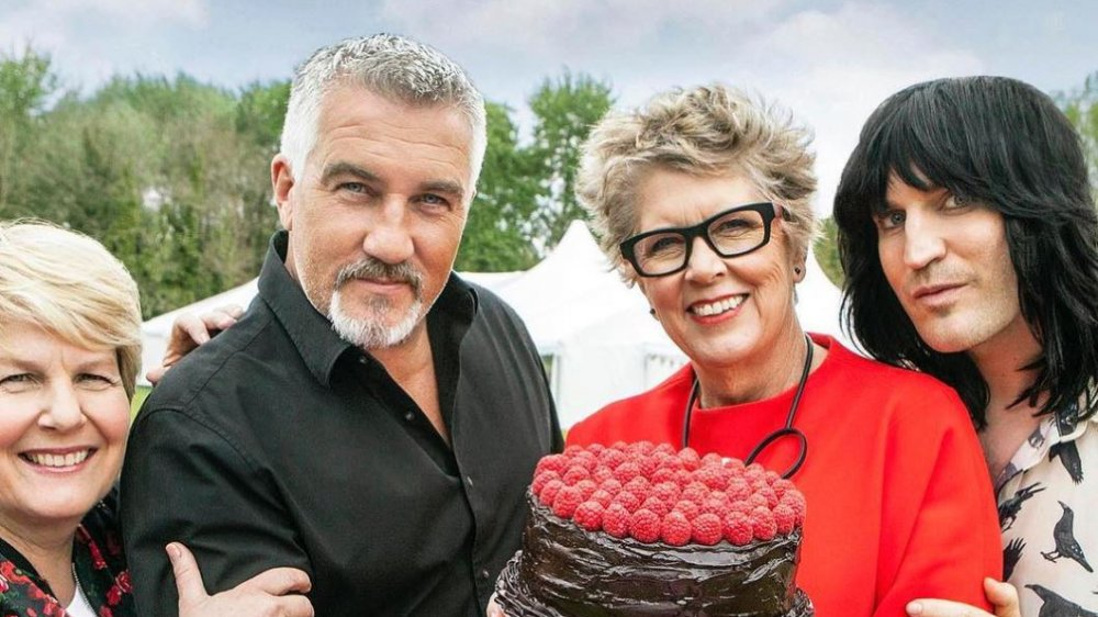 The judges and hosts of Great British Bake Off